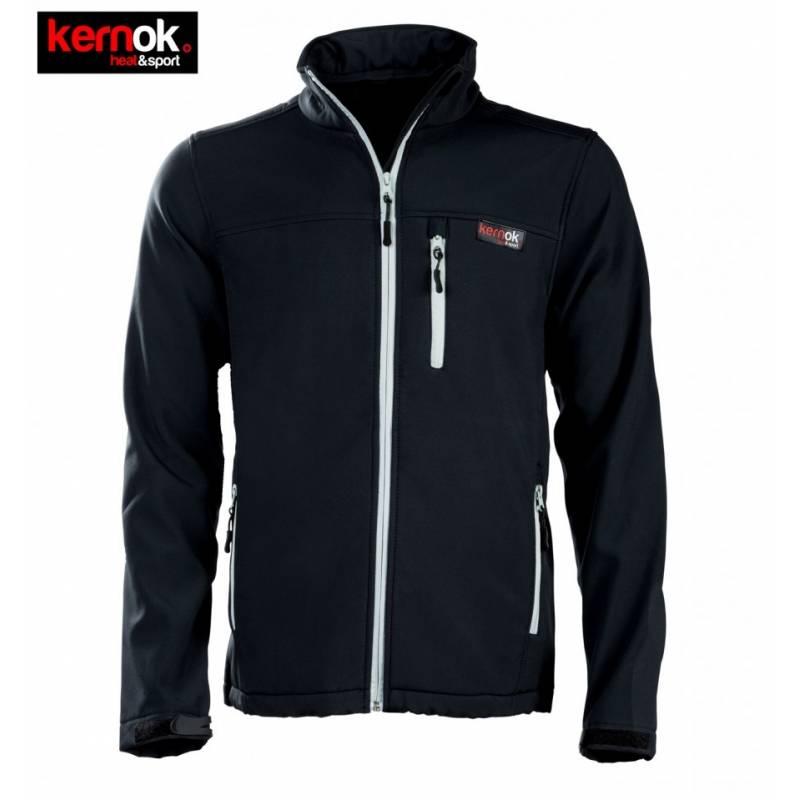 magasin en ligne 4b61d 10595 KERNOK, Veste chauffante Homme soft shell KERNOK