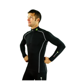 "Base Layer ""Pointe Blanche"" col zippé homme, Natural Peak"