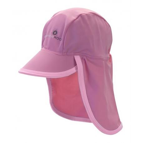 Casquette protège-nuque bébé SnapperRock anti-UV - rose