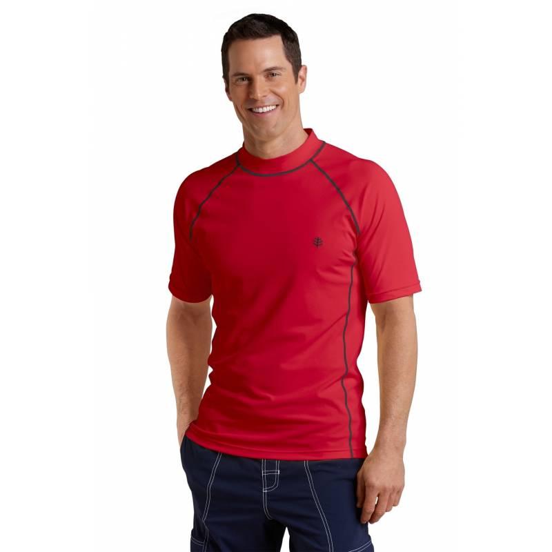 coolibar uv werend shirt korte mouwen heren rood sodiffusion. Black Bedroom Furniture Sets. Home Design Ideas