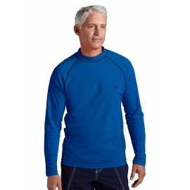 T-shirt de bain homme Coolibar à manches longues - bleu roi