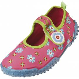Chaussures de plage enfant Playshoes anti-UV - motif fleurs