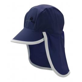 Casquette protège,nuque bébé anti-UV – bleu marine