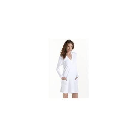 Cardigan à capuche Poolside femme UPF50+, blanc