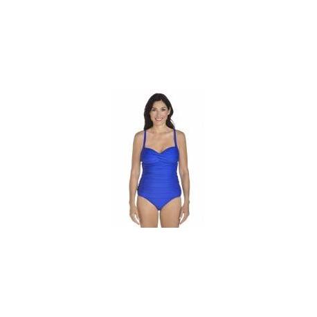 Tankini bandeau pour femme UPF 50+, bleu