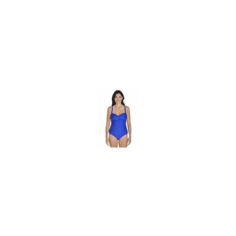 Coolibar, Tankini bandeau pour femme UPF 50+, bleu ab63a356d842