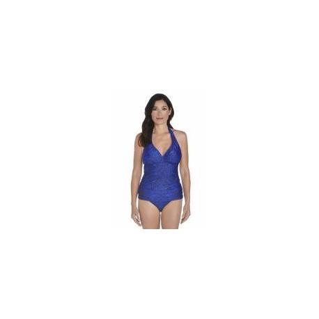 Tankini dos nu anti-UV pour femme UPF50+, bleu