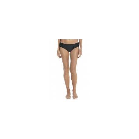 Bas de bikini anti-UV ruché pour femme UPF50+, noir