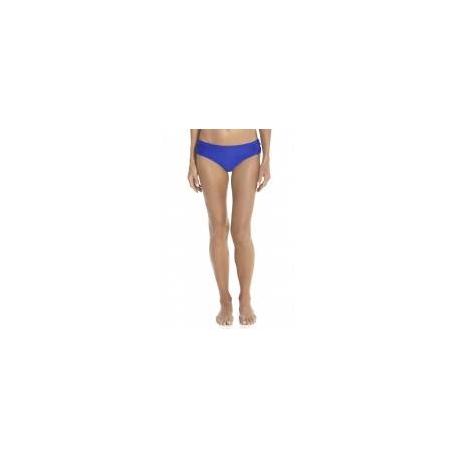 Bas de bikini anti-UV ruché pour femme UPF50+, bleu