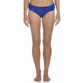 Bas de bikini anti-UV ruché pour femme UPF50+, bleu à motif