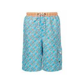 Short de bain long, motif tortue hawaïenne