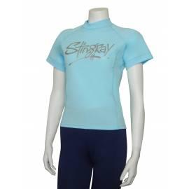 T-shirt de surf manches courtes anti uv femme - Aqua