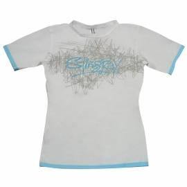 T-shirt de surf manches courtes anti uv femme - Blanc