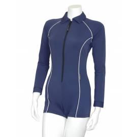 Combi-short femme Stingray anti-UV à manches longues - bleu