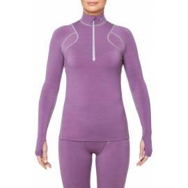 T-Shirt Mérinos ARCTIC manches longues col zippé, femme - Thermowave