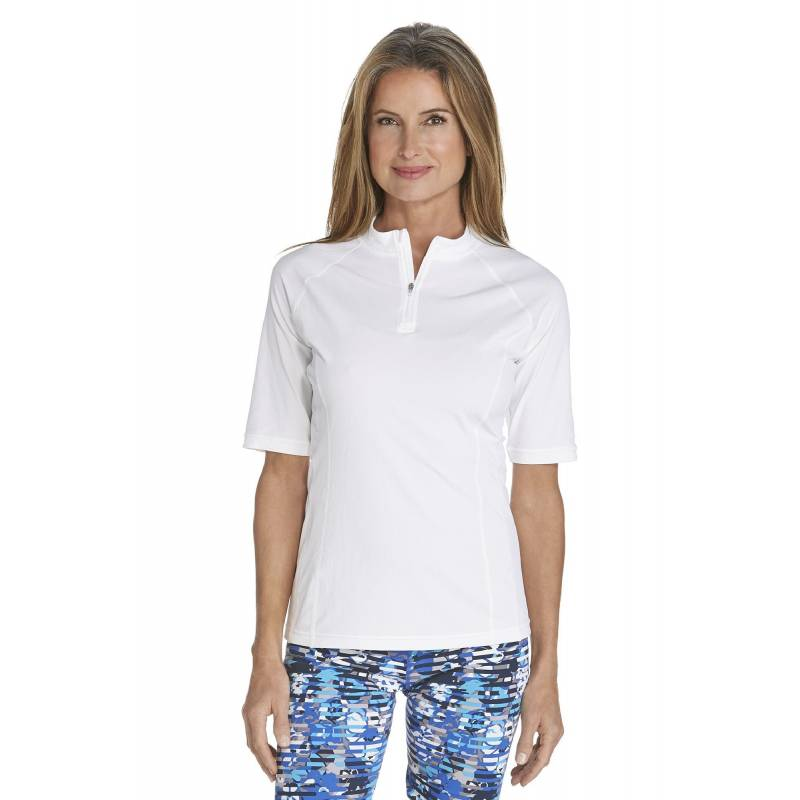 T-Shirt de bain Manches courtes Femme - White - SODIFFUSION 0e8efae5f1ab
