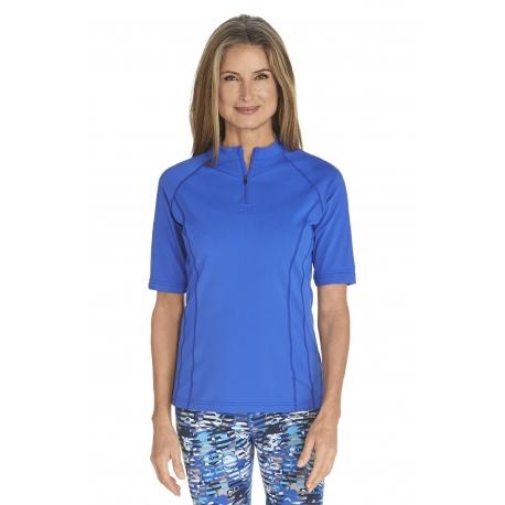 T-Shirt de bain Manches courtes Femme - Kobalt Blue - SODIFFUSION d88274f3d5f4