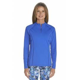 T-shirt de bain Manches Longues anti UV Femme Zip - Kobalt Blue