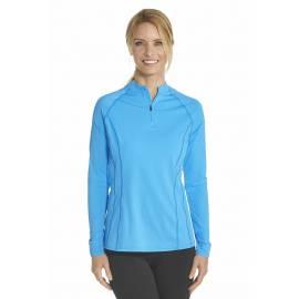 T-shirt de bain Manches Longues anti UV Femme Zip - Azure bauw