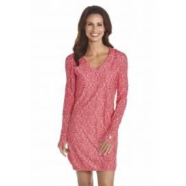 Robe de bain à capuche anti uv Femme - Pink