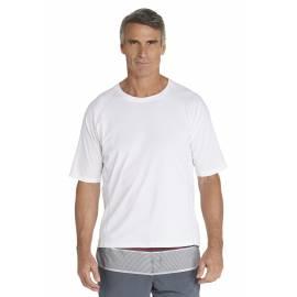 T-Shirt de bain manches courtes pour Hommes - Blanc