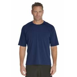 T-Shirt de bain manches courtes pour Hommes - Bleu Marine