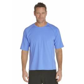 T-Shirt de bain manches courtes pour Hommes - Bleu Clair