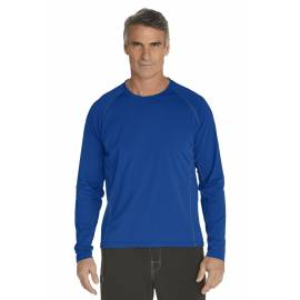T-Shirt Manches Longues anti Uv pour Hommes - royal