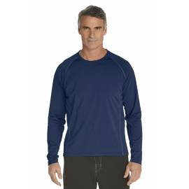 T-Shirt Manches Longues anti Uv pour Hommes - navy