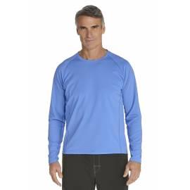 T-Shirt Manches Longues anti Uv pour Hommes - surf blue