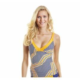 UPF 50+ Top de Bain Femme - Jaune/Bleu