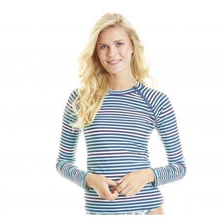 T-Shirt de Bain Femme à Zip Anti Uv - Zipper Rashguard