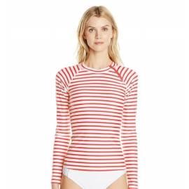 T-Shirt Manches Longues Femmes Anti Uv Rashguard - Orange