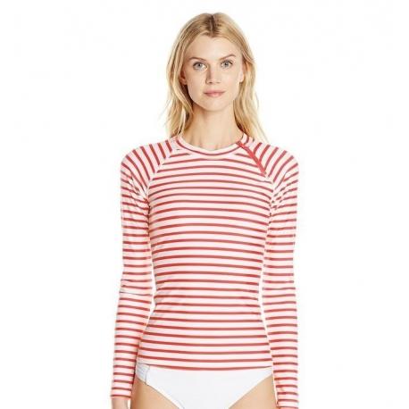 0b9845055f3 T-Shirt Manches Longues Femmes Anti Uv Rashguard - Orange