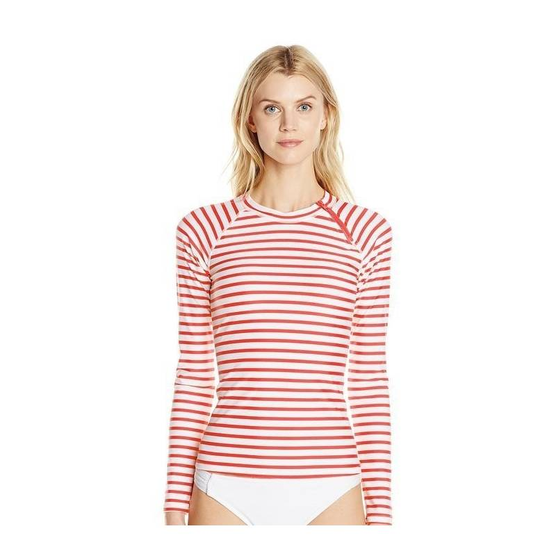 T-Shirt Manches Longues Femmes Anti Uv Rashguard - Orange - SODIFFUSION 62cefc1d4973