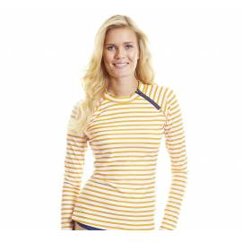 T-Shirt Manches Longues Femmes Anti Uv Rashguard - Jaune