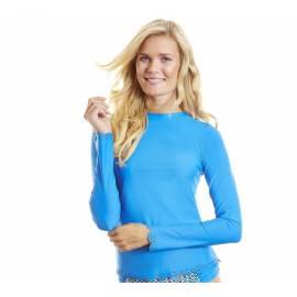 T-Shirt Manches Longues Femmes Anti Uv Rashguard - Bleu Cobalt