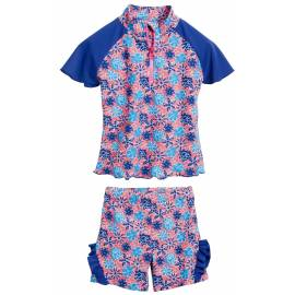 Combinaison Anti UV Bébé - flowers blue