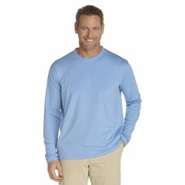 ZnO UV T-shirt Manches Longues Homme - Light blue