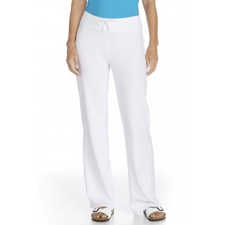 ZnO UV Pantalon de plage - Blanc