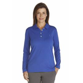 Polo Manches Longues Anti UV Femme- royal blue