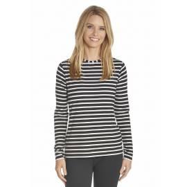 T-shirt anti Uv Femme Manches Longues- Noir
