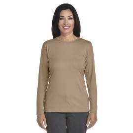 ZnO UV T-shirt Manches Longues Femme - kaki
