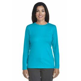 ZnO UV T-shirt Manches Longues Femme - azure