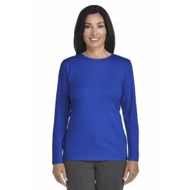 ZnO UV T-shirt Manches Longues Femme - royal cobalt