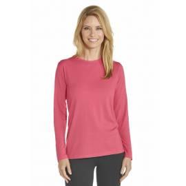 T-shirt anti Uv Femme Manches Longues - Corail