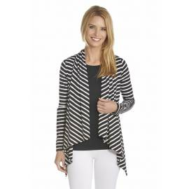 Gilet fin Femme anti UV - Black/White