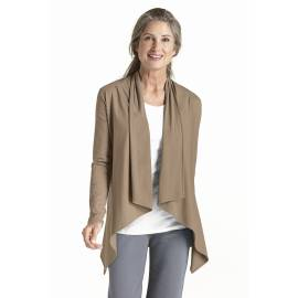 Gilet long fin pour Femmes ZnO - taupe