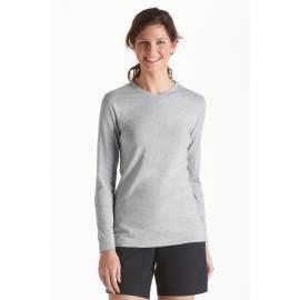 T-Shirt manches longues anti uv col V Femme - Grey