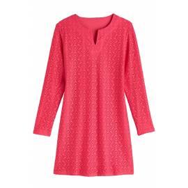 Robe/Tunique Femme Anti UV Manches Longues - Coral